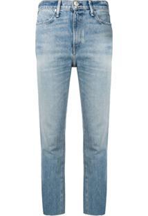 Rag & Bone Calça Jeans Cropped - Azul