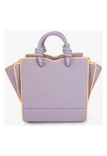 Blusa Soleah Mini Handbag Galeria Feminina - Feminino-Lilás