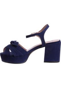 Sandália Meia Pata Butique De Sapatos Marinho Lacinho