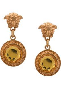 Versace Par De Brincos Medusa - Dourado