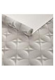 Papel De Parede Importado Lavavel Textura Estofado Cinza 3D
