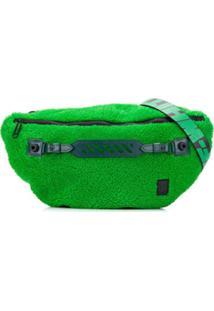 Off-White Bolsa Carteiro Com Pelos - Verde