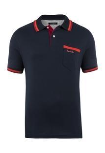 Camisa Polo Pierre Cardin Navy Details Masculina - Masculino