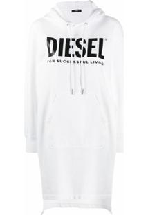 Diesel Vestido Sweater Com Ajuste Na Cintura - Branco