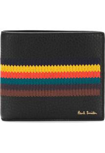 Paul Smith Carteira Color Block De Couro - Preto