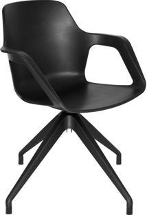 Cadeira De Cozinha Giratória Beau Com Braço Preta