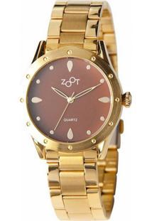 Relógio Zoot Casual Drop Ouro Zw10094-O