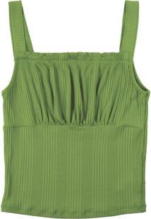 Blusa De Alça Com Decote Diferenciado Verde