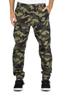 Calça Prime Sarja Jogger Camuflada - Masculino