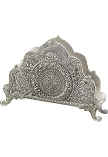 Porta Guardanapos Silver Plated Marrocos 13X9Cm - Lyor Classic - Prata