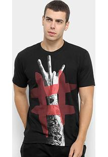 Camiseta Toiss Estampada Masculina - Masculino-Preto