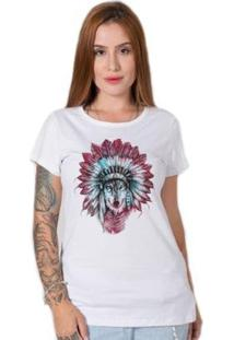 Camiseta Feminina Stoned Indian Wolf - Feminino