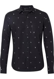 Camisa John John William Algodão Preto Masculina (Preto, G)