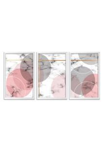 Quadro 75X150Cm Escandinavo Oslo Moldura Branca Sem Vidro Decorativo
