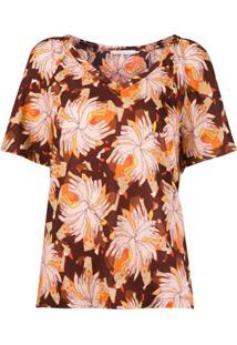 L'Autre Chose Blusa Com Estampa Floral - Marrom