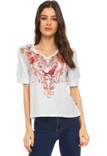 Camiseta Lança Perfume Estampada Branca