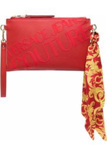 Versace Jeans Couture Clutch Com Estampa De Logo - Vermelho