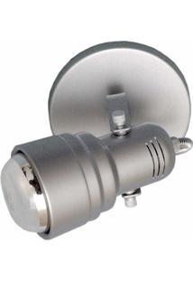 Spot De Sobrepor Em Alumínio Para 1 Lâmpada 60W 110V Prata