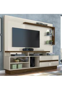 Estante Para Tv 1 Porta Vicente 636122 Off White/Savana - Madetec
