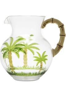 Jarra Palm- Incolor & Verde Escuro- 2,7L- Rojemarojemac