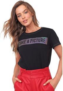 Camiseta Morena Rosa Lettering Preta - Preto - Feminino - Algodã£O - Dafiti