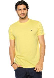 Camiseta Lacoste Gola Redonda Amarela