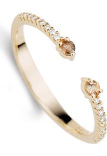 Anel Ouro Rosé Andaluzita E Diamantes