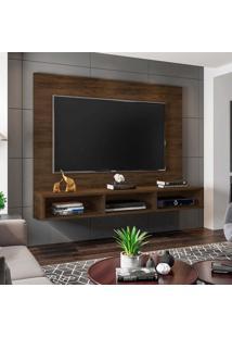 """Painel Home Suspenso Para Tv Atã© 55"""" Quartzo Cedro - Mã³Veis Leã£O - Multicolorido - Dafiti"""