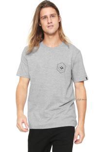 Camiseta Quiksilver Hexa Gone Cinza