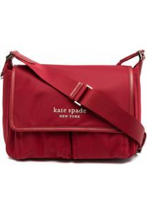 Kate Spade Bolsa Tiracolo Com Placa De Logo - Vermelho