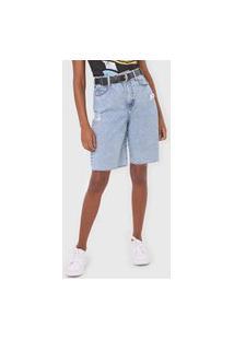 Bermuda Jeans Colcci Reta Kayla Azul