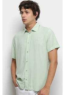 Camisa Colcci Relax Lisa Masculina - Masculino-Verde