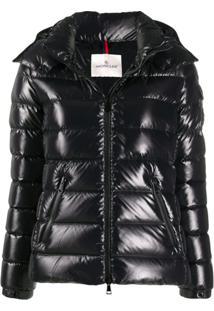 Moncler Logo Patch Puffer Jacket - Preto