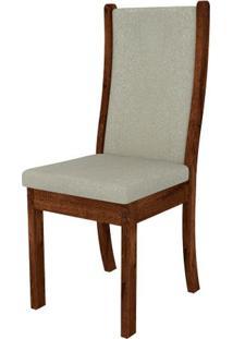 Cadeira Malta 2 Peças - Rústico Malbec Com Pena Bege