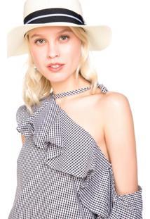 Chapéu De Palha Faixa Decorativa
