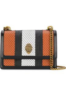 Kurt Geiger London Woven Striped Shoulder Bag - Laranja