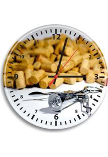 Relógio De Parede Decorativo Rolhas De Vinho Único