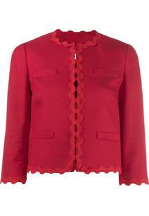 Red Valentino Jaqueta Cropped - Vermelho