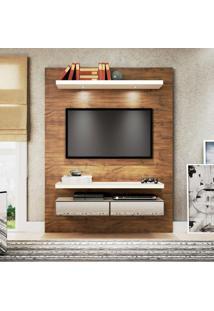 Painel Para Tv 60 Polegadas Thor Nobre E Off White 140 Cm