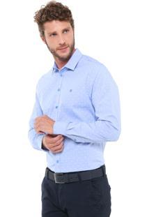 Camisa Forum Reta Bordada Azul