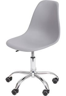 Cadeira Eames Dkr- Cinza Claro & Prateada- 93X47X41Cor Design