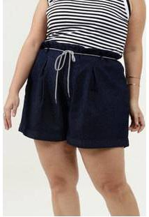 Short Feminino Jeans Clochard Plus Size Razon