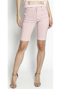 Bermuda Com Bolsos & Tag- Rosa Claro- Dress Todayênfase
