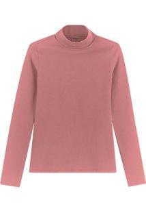 Blusa Rosa Em Cotton
