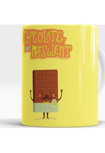 Caneca Chocolate For President