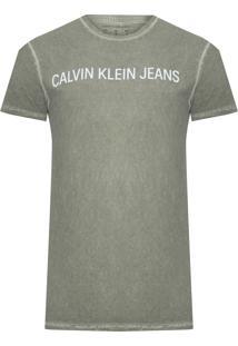 Camiseta Masculina Est Logo Básica - Verde