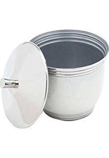Porta Algodão Fenori Branco Em Aço Inox Esmaltado - Prestige