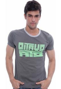 Camiseta Oitavo Ato Strong Masculina - Masculino-Cinza