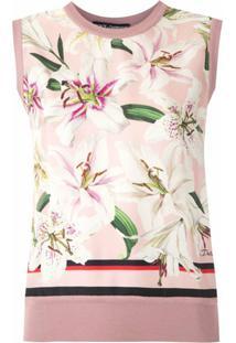 Dolce & Gabbana Blusa Regata De Seda Estampada - Rosa