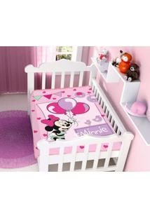 Cobertor Infantil Disney Rosa Minnie Festa Jolitex